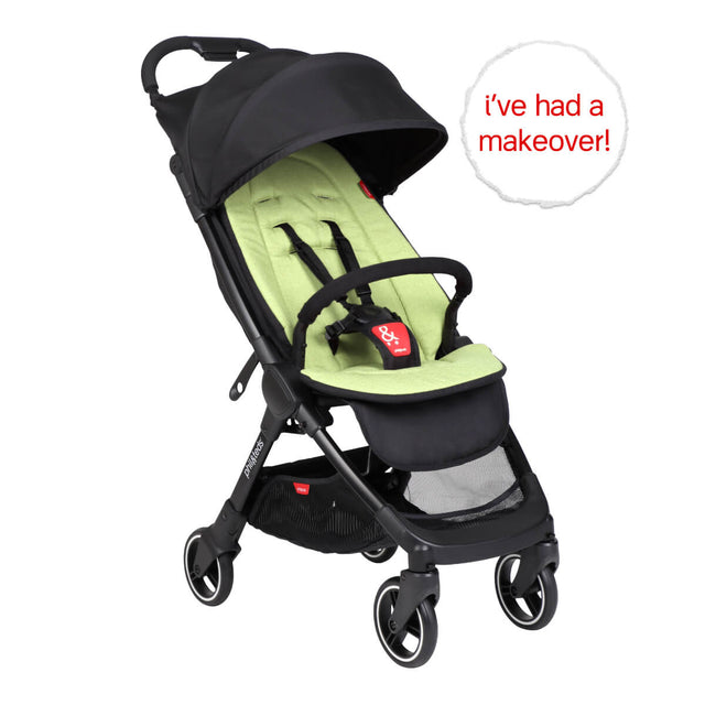 go™ 2020+ compact umbrella stroller with apple green colour liner