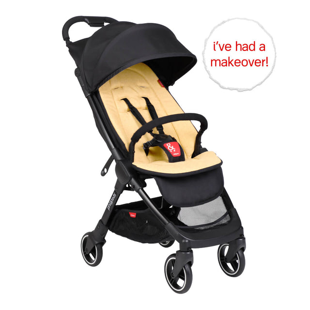 go™ 2020+ compact umbrella stroller with butterscotch yellow colour liner