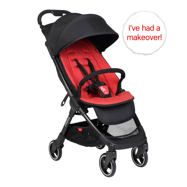 go™ 2020+ compact umbrella stroller with chilli red colour liner