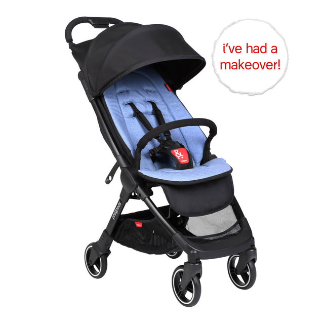 go™ 2020+ compact umbrella stroller with sky blue colour liner