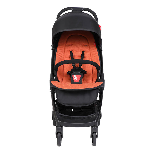 go™ 2020+ compact umbrella stroller with rust coloured liner from front angle