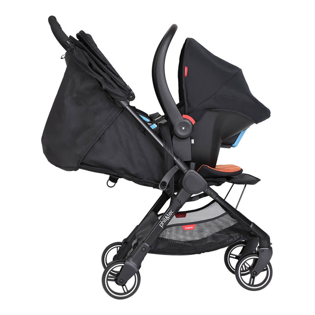 go™ 2020+ compact umbrella stroller travel system with optional alpha infant car seat from side on