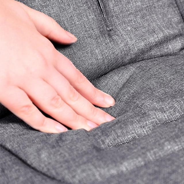 phil&teds cushy ride liner in charcoal grey is soft to touch close up_charcoal