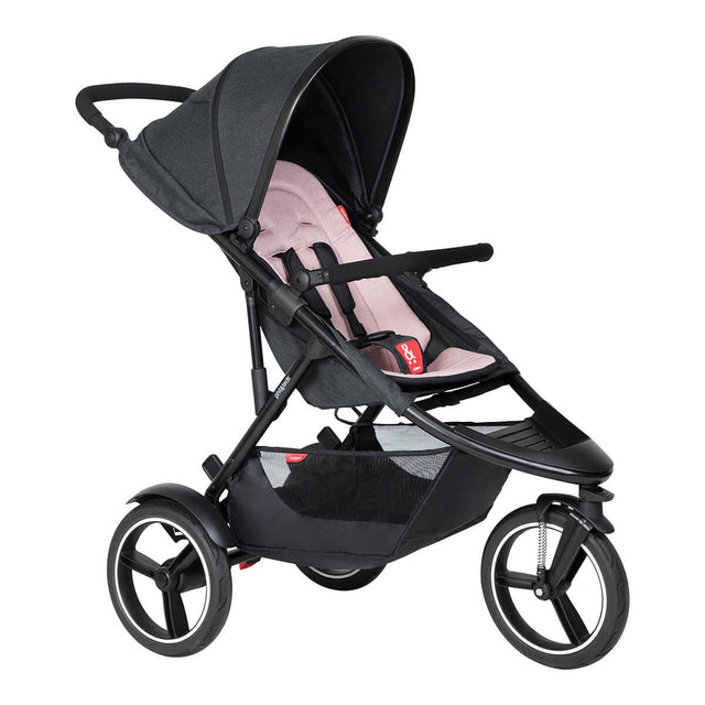 phil&teds dash buggy in blush 3/4 view_blush