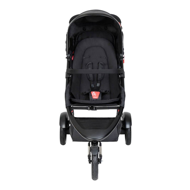 phil&teds dot buggy with black liner front view_black