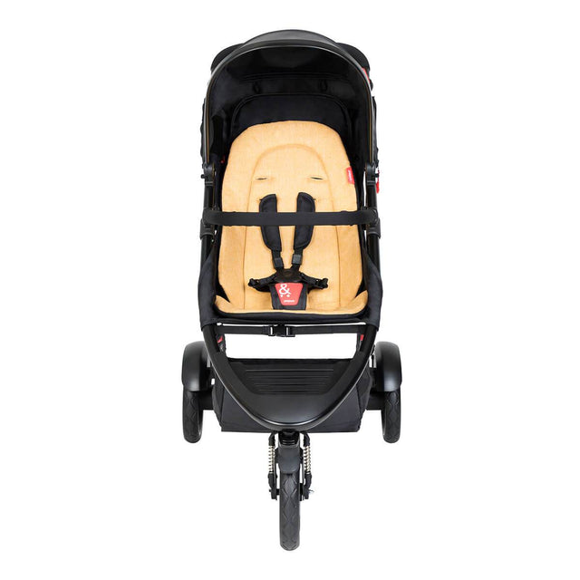 phil&teds dot buggy with blutterscotch liner front view_butterscotch