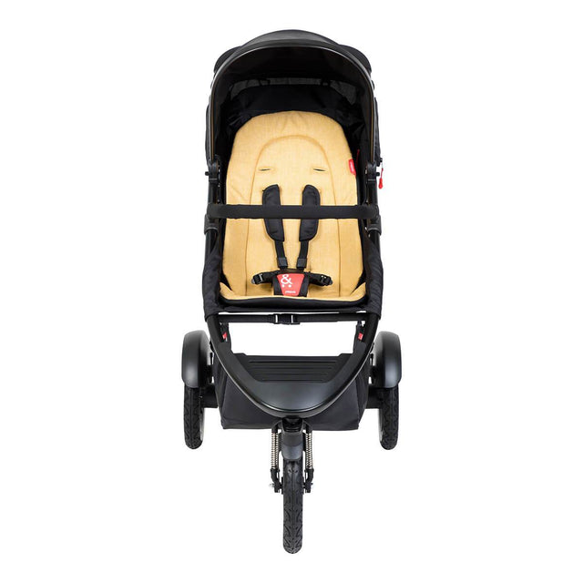 phil&teds sport inline buggy in butterscotch brown front view_butterscotch