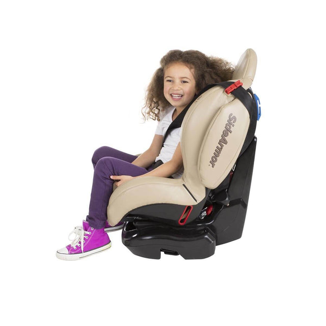 phil&teds evolution car seat in sand with toddler side view_sand