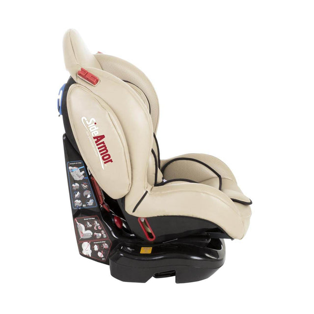 phil&teds evolution car seat in sand side view_sand
