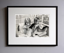 Load image into Gallery viewer, Alpin and Dana in the loft making up, 1977 - Framed Print