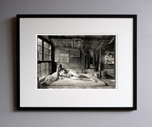 Diane upstairs in the bedroom, 1976 - Framed Print