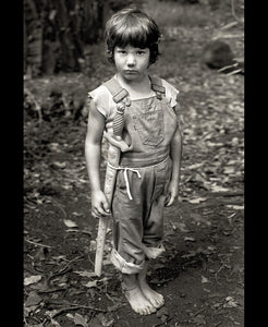 Gary with his sword, 1976 - Framed Print