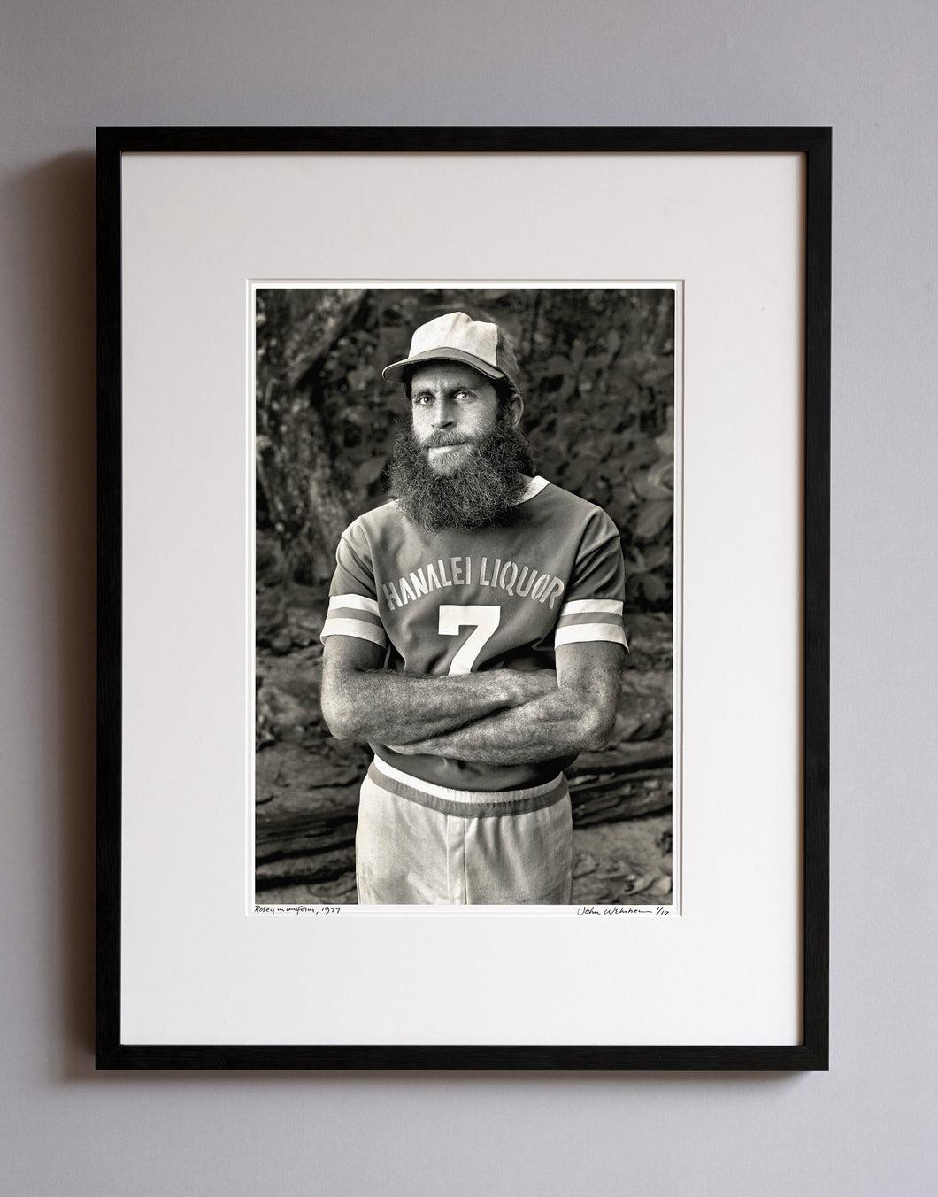 Rosey in uniform, 1977 - Framed Print