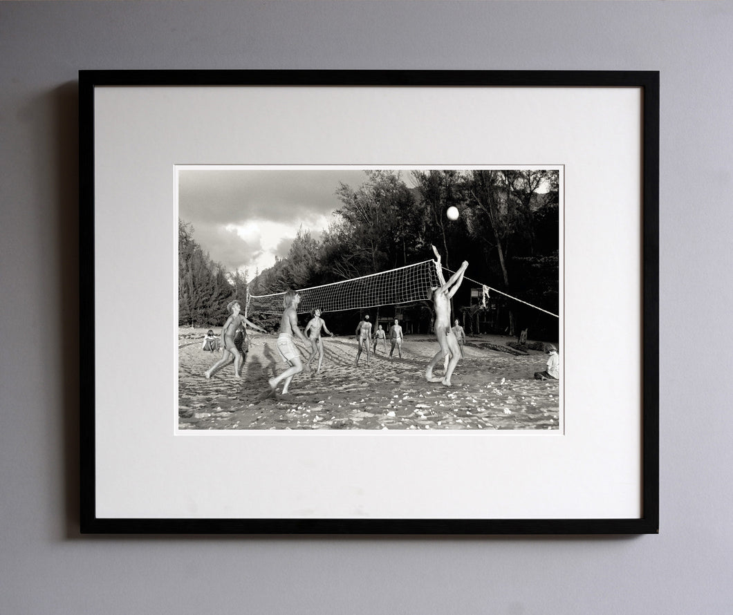 Beach volleyball, 1977 - Framed Print