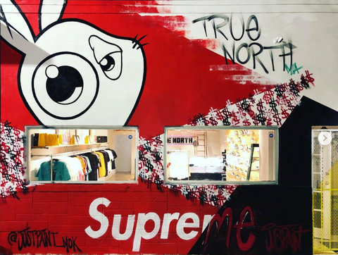 "MOK ""Jack Mural"" on True North MIA storefront"