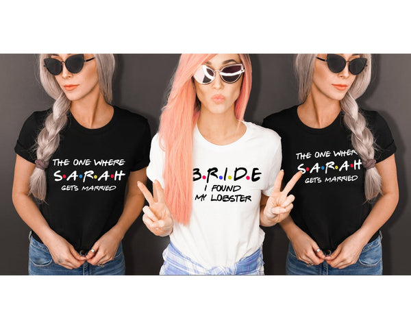 I Found My Lobster Bridesmaid Hen Party Shirts - BachelorettePartyUs