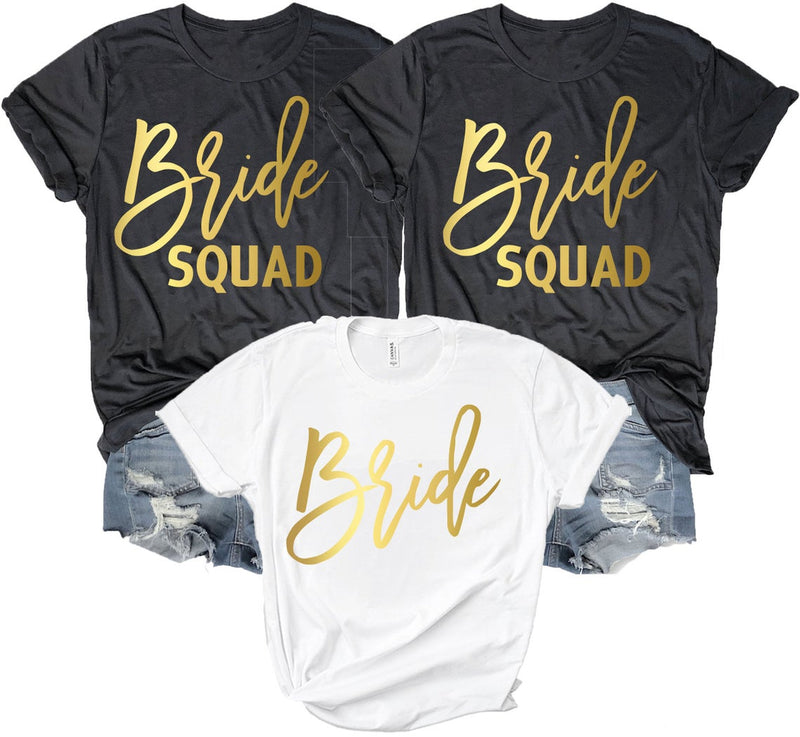 Bride Squad Shirt Party Tops - BachelorettePartyUs