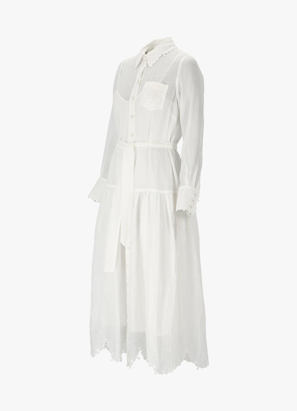 ZIMMERMANN THE LOVESTRUCK SHIRT DRESS