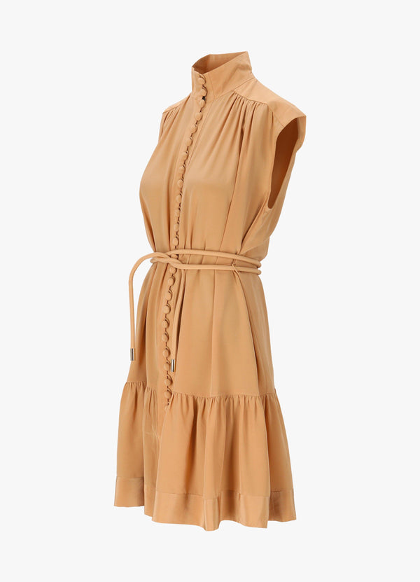 ZIMMERMANN HIGH NECK MIDI DRESS