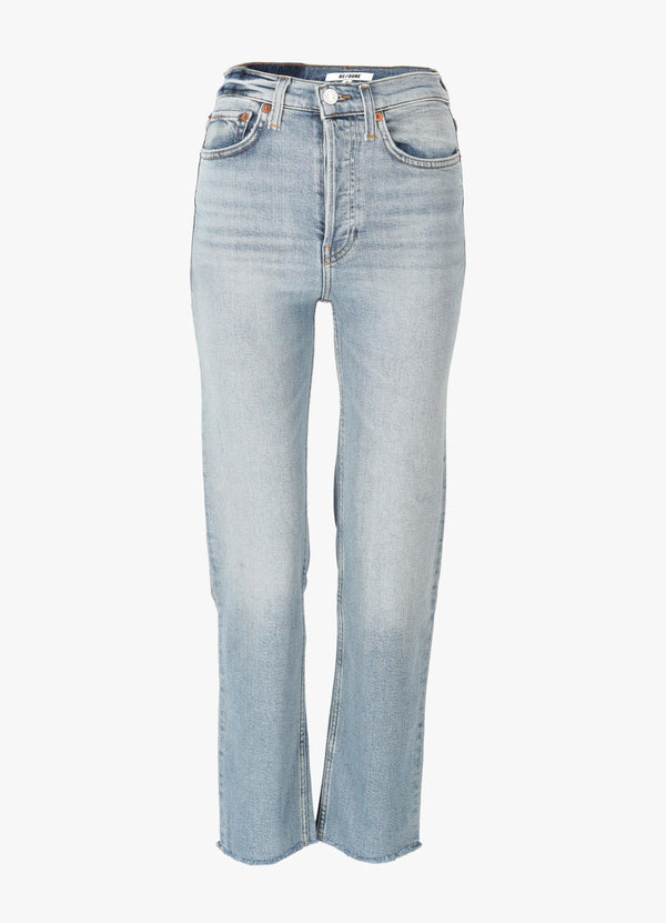 RE/DONE HIGH RISE STOVE PIPE JEANS Jeans 300023910