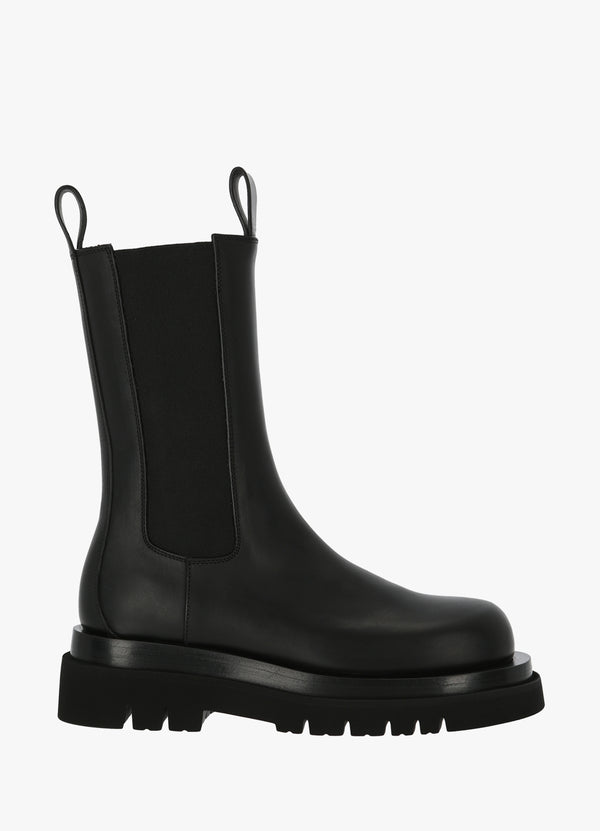 BOTTEGA VENETA HIGH ANKLE CHELSEA BOOTS