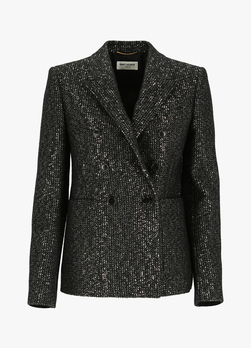 SAINT LAURENT DOUBLE - BREASTED BLAZER Jackets 300012613