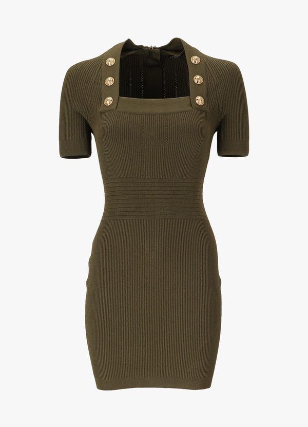 BALMAIN SHORT KNIT DRESS