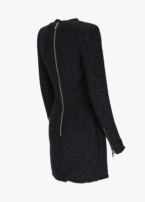 BALMAIN SHORT FRAYED DRESS
