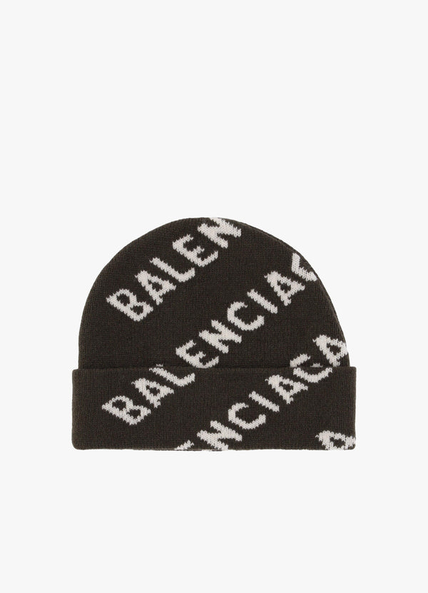 BALENCIAGA ALLOVER LOGO HAT