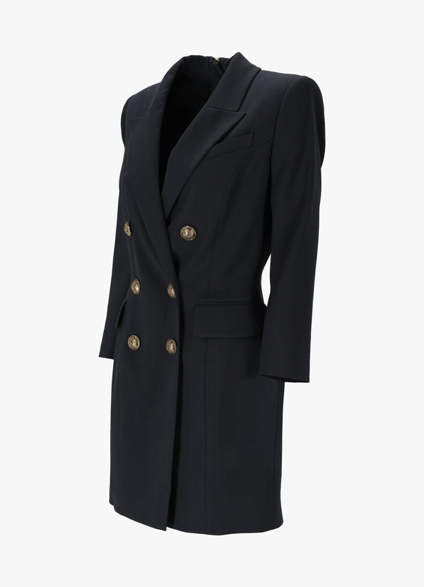 BALMAIN STRETCH JACKET DRESS