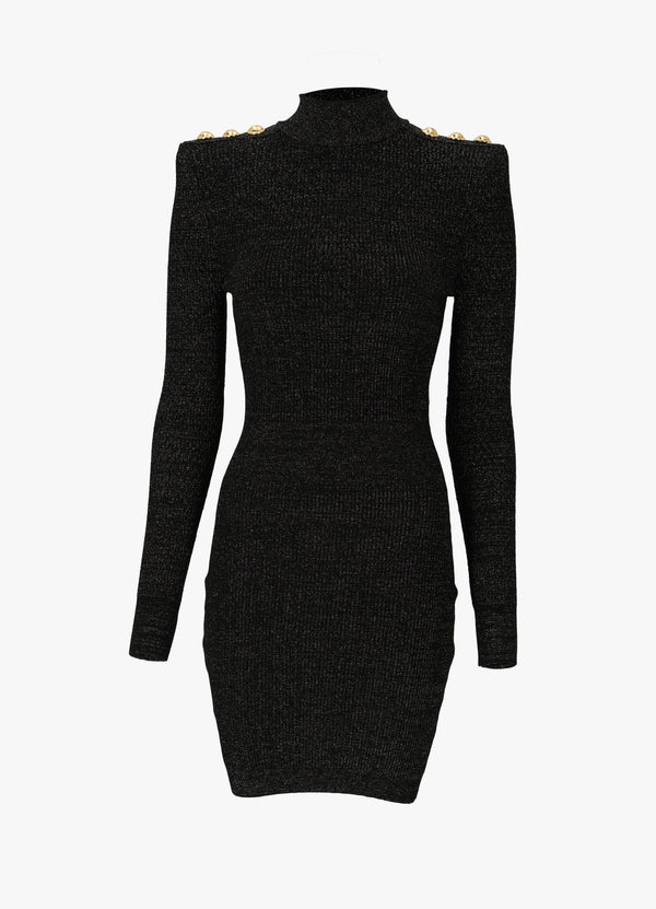BALMAIN SHORT LUREX KNIT DRESS Dresses 300027403