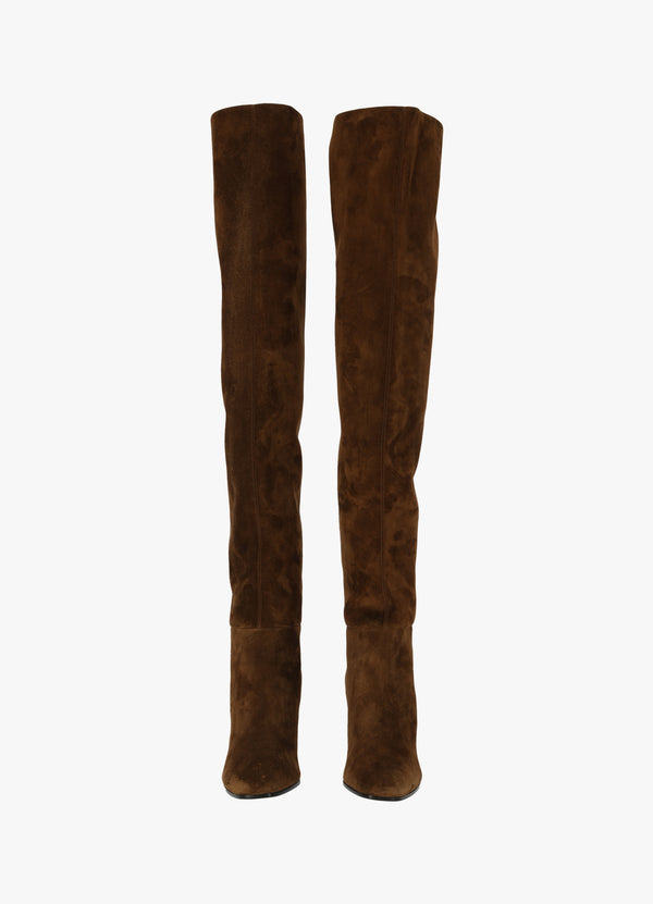 SAINT LAURENT JANE OVERKNEE BOOTS