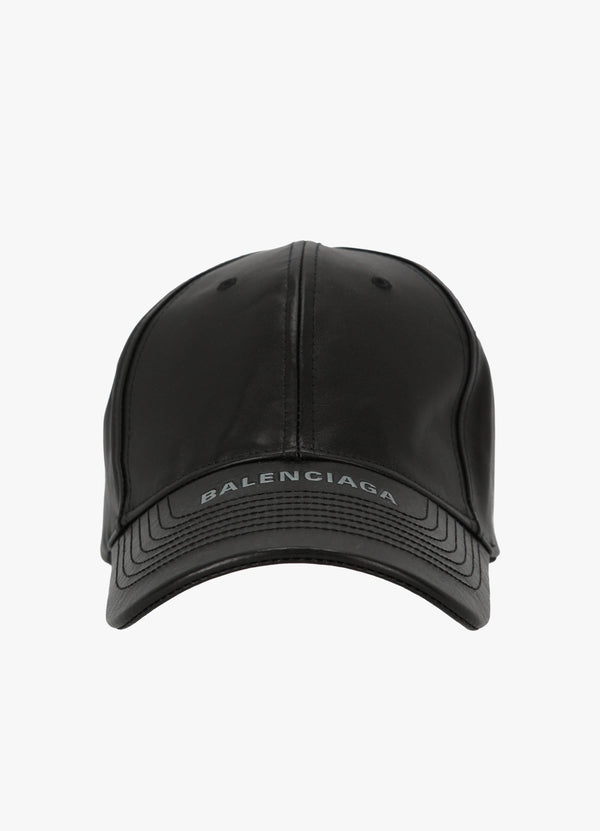 BALENCIAGA LEATHER BASEBALL CAP