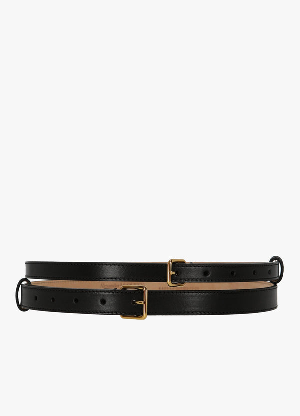 ALEXANDER MCQUEEN THIN DOUBLE BELT