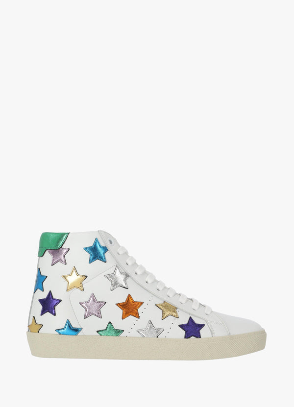 HIGH - TOP TENNIS SNEAKERS