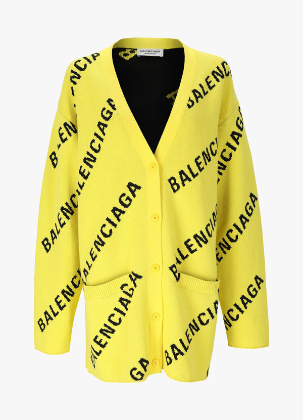 ALL OVER LOGO CARDIGAN