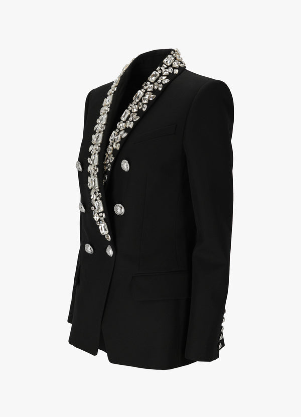 SHAWL COLLAR EMBROIDERY JACKET