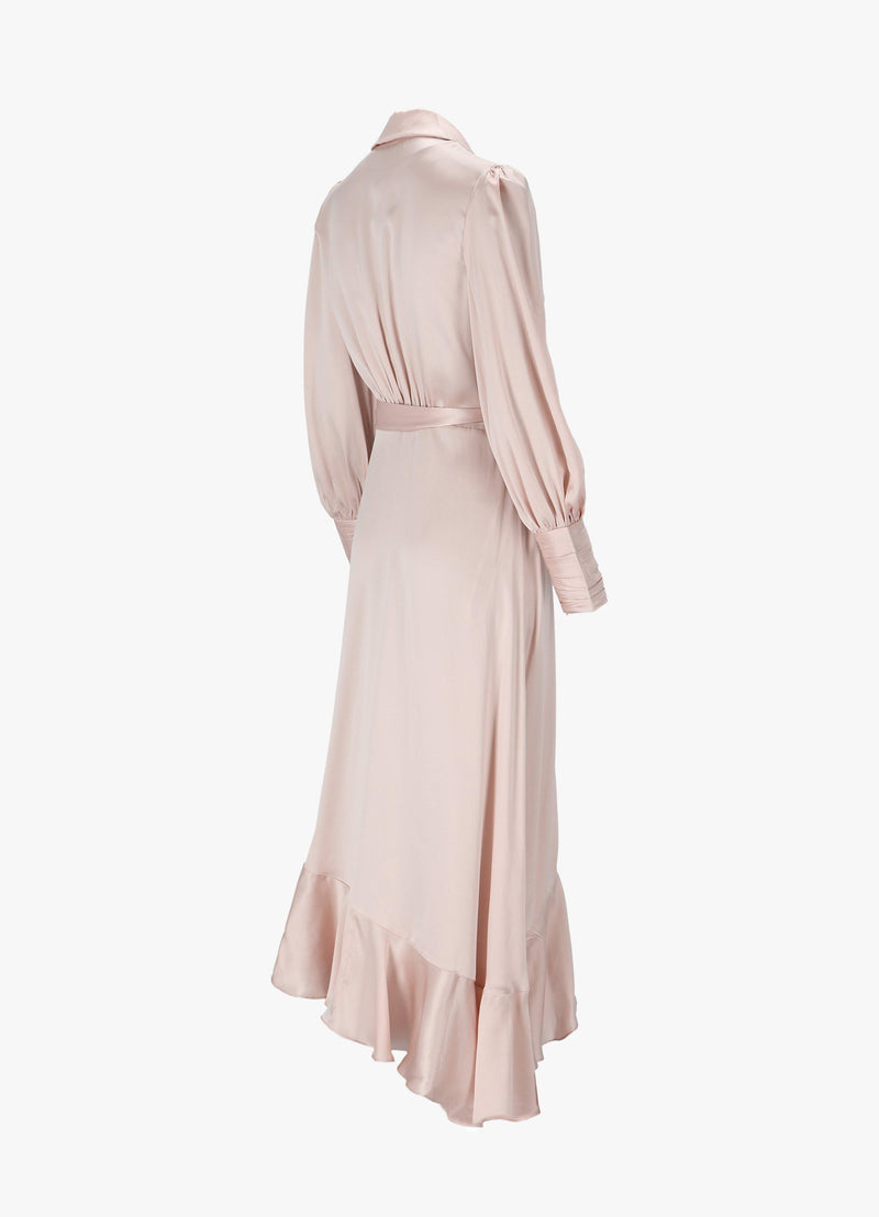ZIMMERMANN WRAP MIDI DRESS