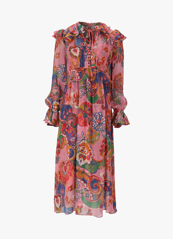 ZIMMERMANN THE LOVESTRUCK CHIFFON DRESS
