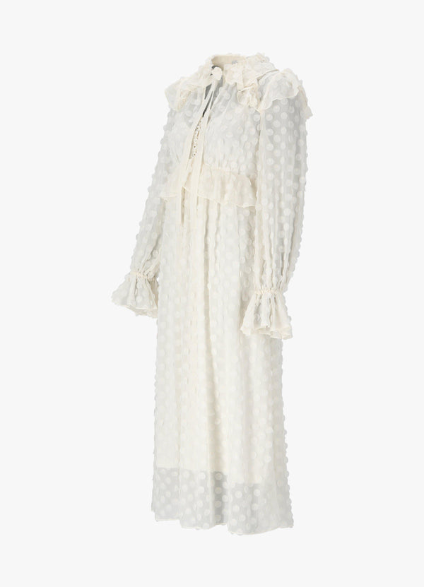 ZIMMERMANN TEXTURED MIDI DRESS