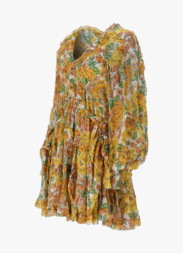 ZIMMERMANN POPPY FRILL BILLOW MINI DRESS