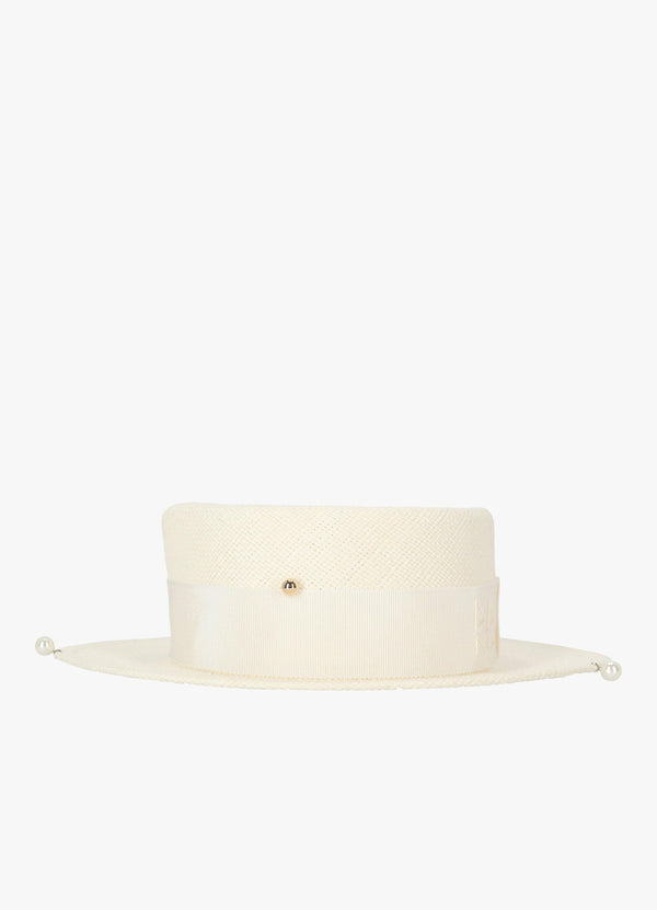 DOUBLE CHAIN STRAP STRAW HAT