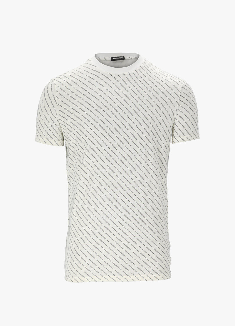 DSQUARED2 ALLOVER LOGO PRINT T-SHIRT T-Shirts 300024388