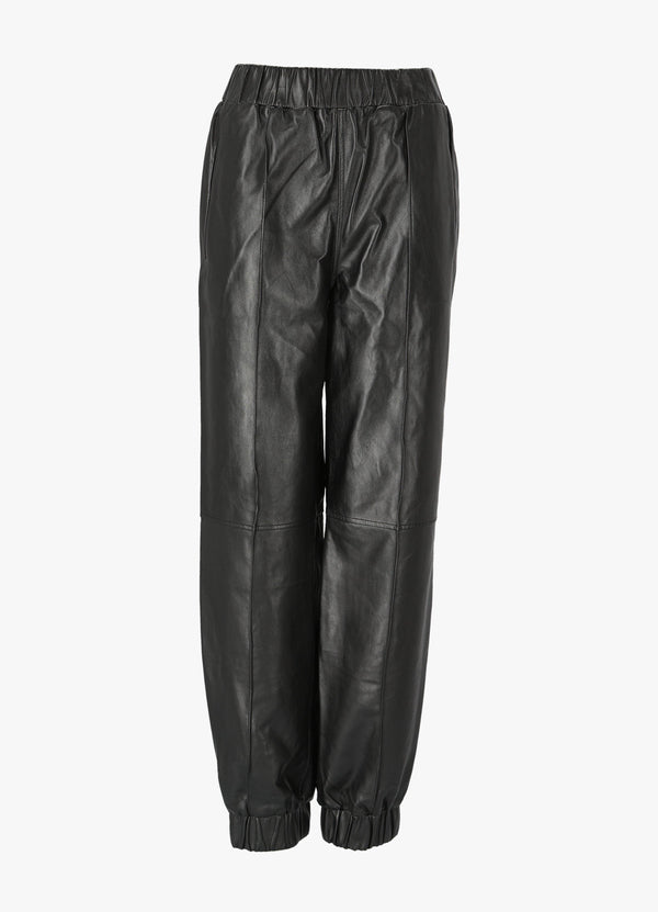 GANNI LAMB LEATHER PANTS Pants 300023994