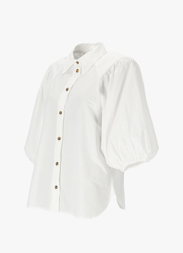 GANNI COTTON POPLIN BLOUSE