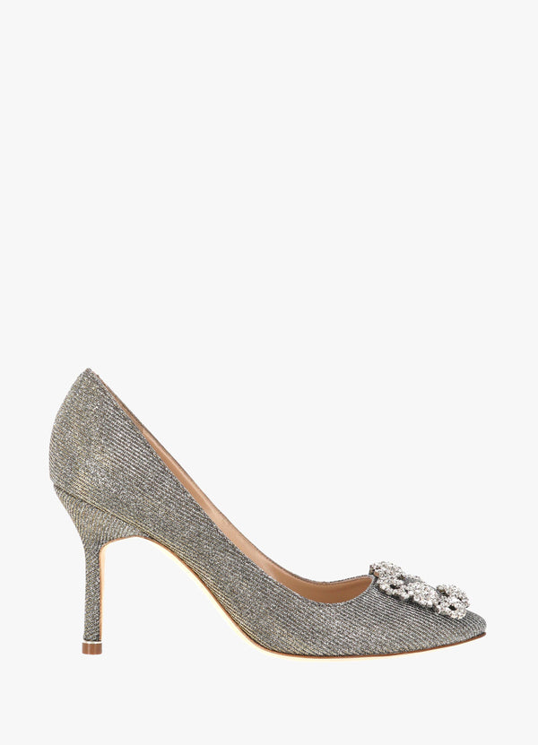 Manolo Blahnik Satin Jewel Buckle Pumps HANGISI CLC LANZA CLAVA 090