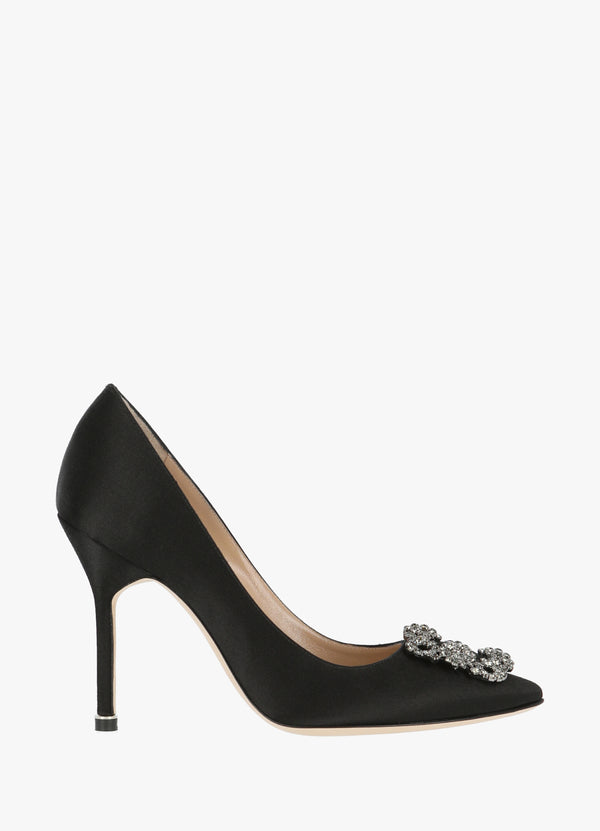 MANOLO BLAHNIK SATIN JEWEL BUCKLE PUMPS High Heels 300000027