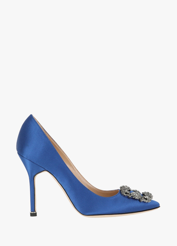 MANOLO BLAHNIK SATIN JEWEL BUCKLE PUMPS High Heels 300000044