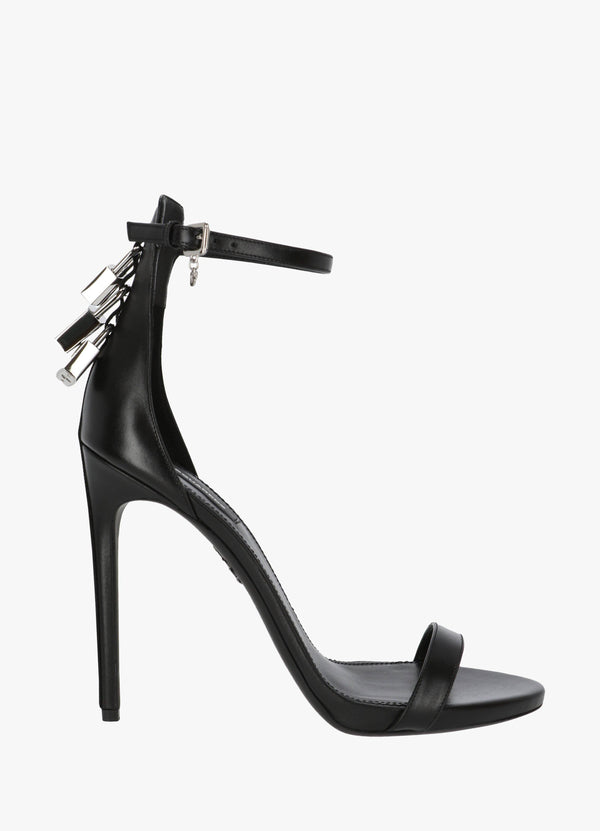 PUNK LOCK HEEL SANDALS