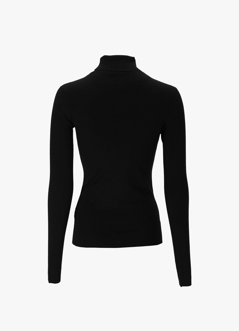 TURTLENECK STRETCH KNIT